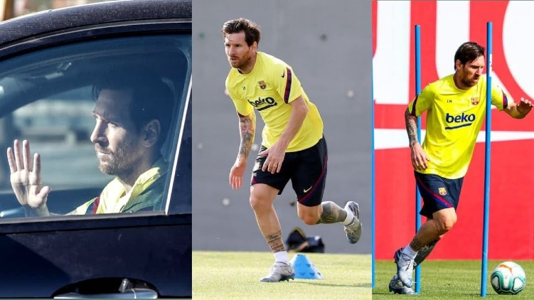Messi returns to training