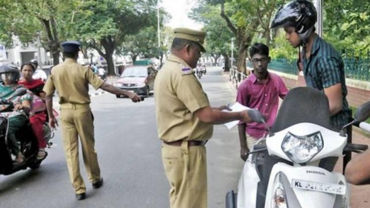 traffic offence kerala