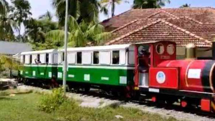 country's first open-air solar train service in veli