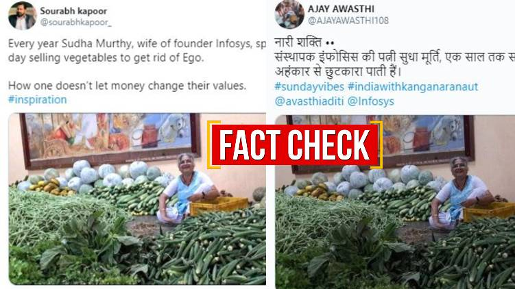 sudha murthy vegetable selling