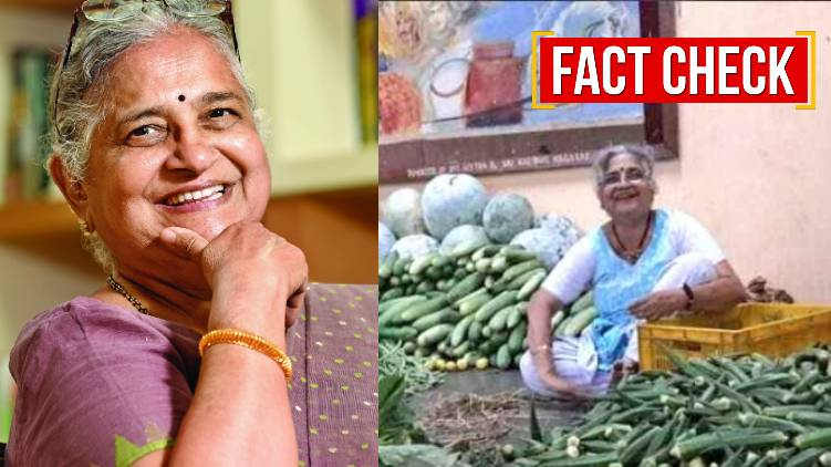 sudha murthy vegetable selling fact check