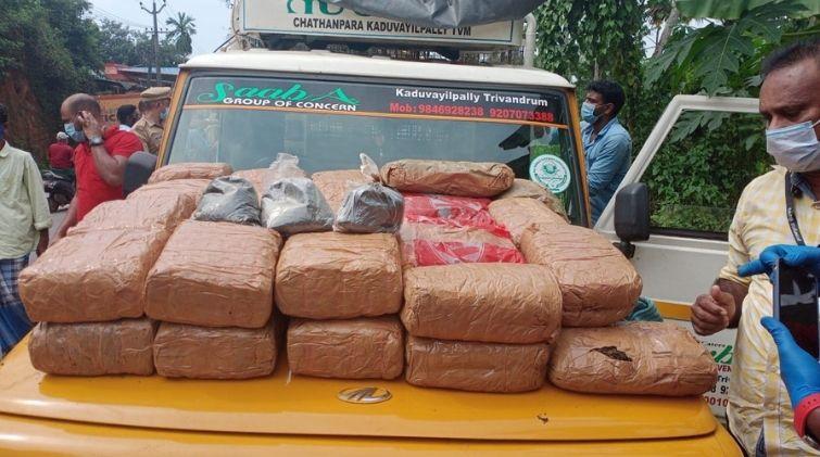 Ganja seized from Trivandrum