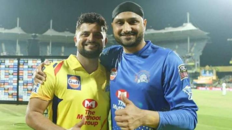 CSK contracts Harbhajan Raina