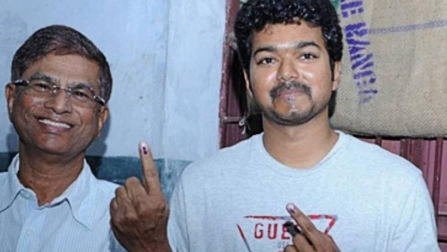 vijay and father s s a chandrasekhar