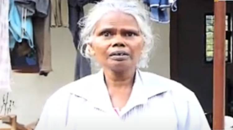 old woman robbed by goondas