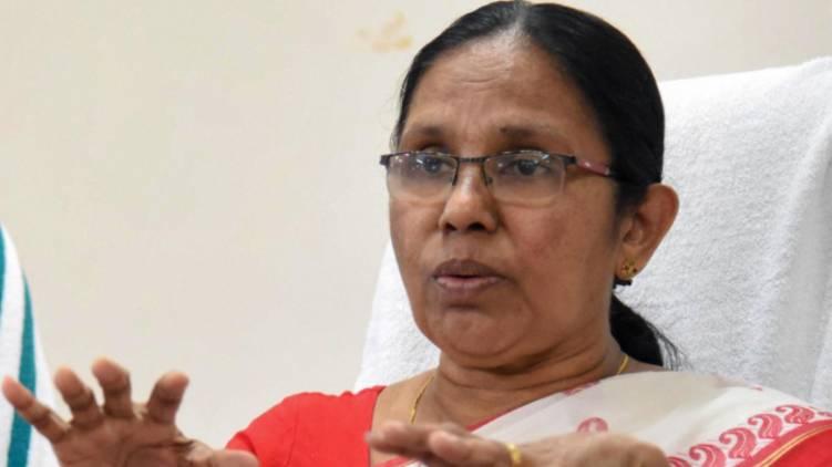 kk shailaja on kalamassery medical college issue