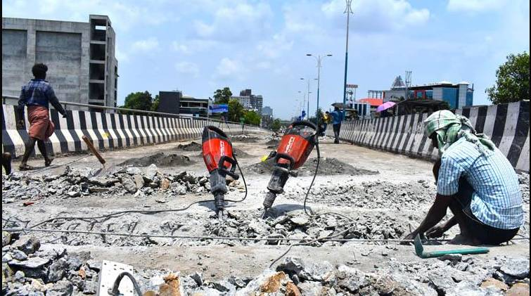 palarivattom overbridge demolish works continues