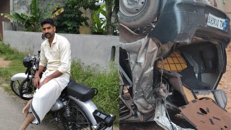 accident thiruvananthapuram soldier dies