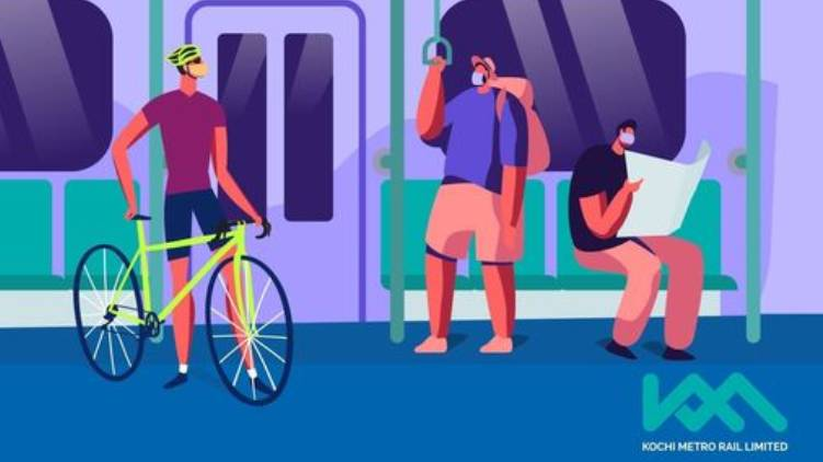 Kochi Metro; permited to carry bicycles all Metro Stations