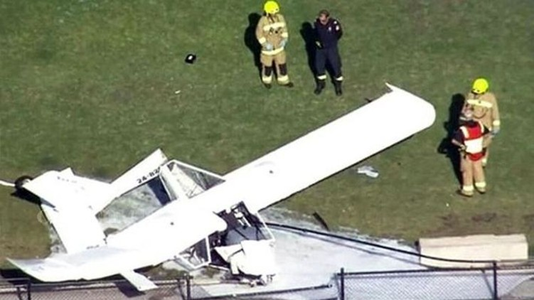 Plane Crashes Indian Cricket