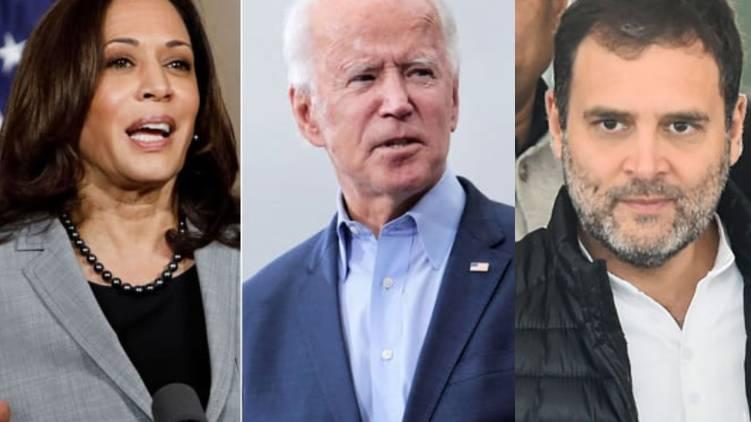 Rahul Gandhi congratulates Joe Biden and Kamala Harris