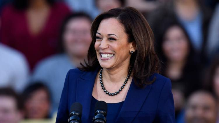 first woman vice president in American history; Kamala Harris
