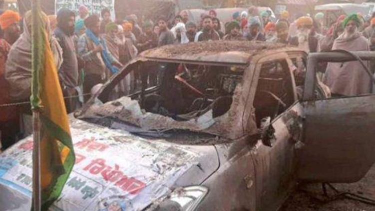 Farmers Protest Burnt Alive