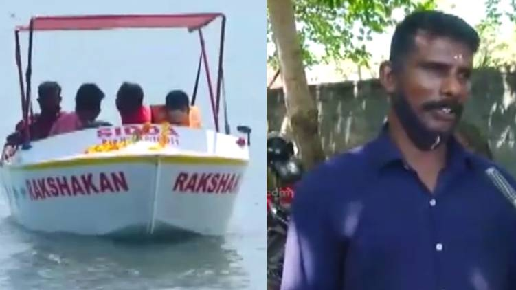 Udayakumar builded a boat with special facilities