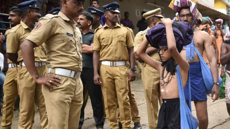 sabarimala police free mess stopped