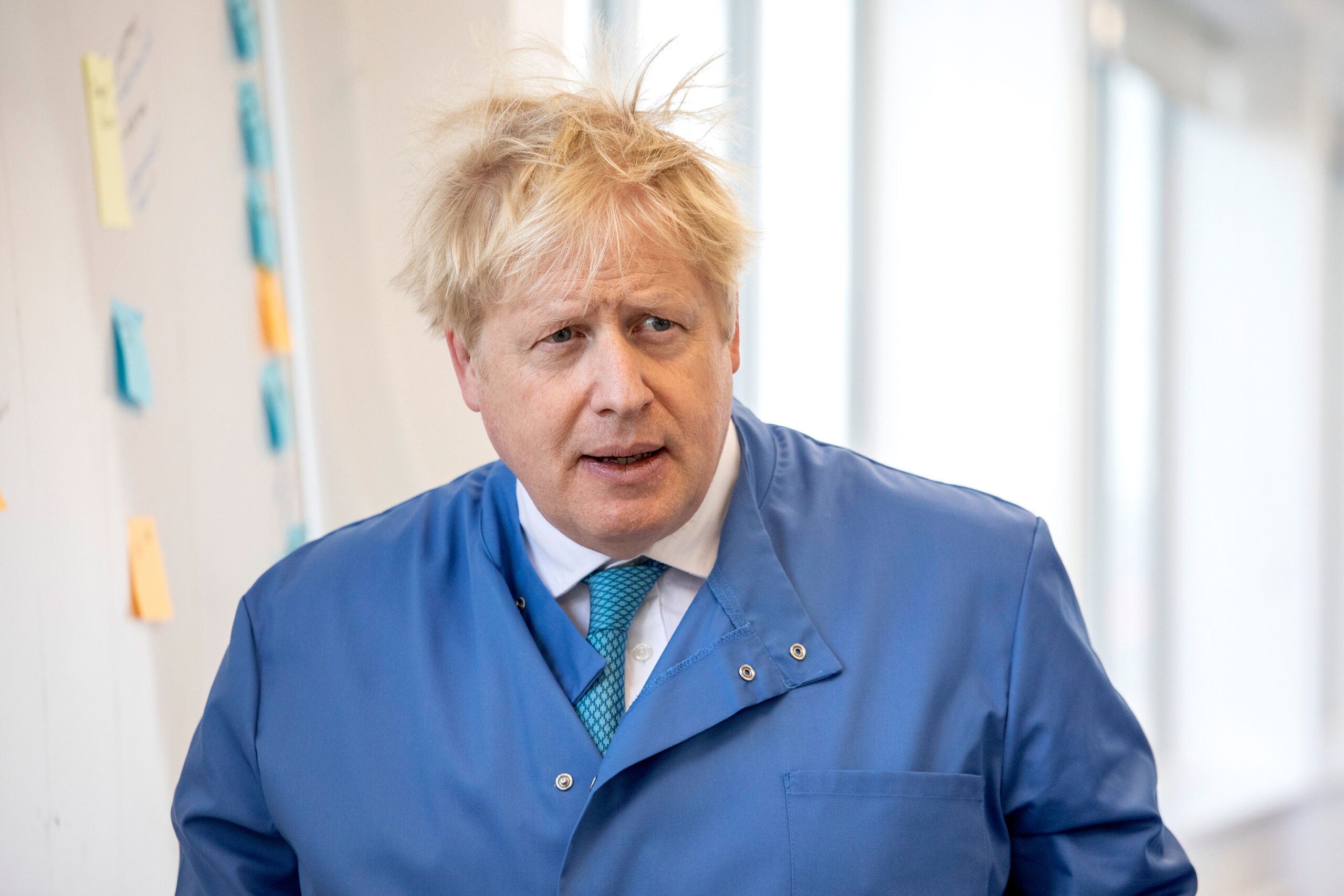 Prime Minister Boris Johnson Visits The Mologic Laboratory In Bedford