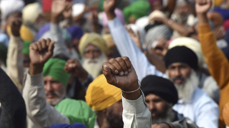 farmers protest meeting today
