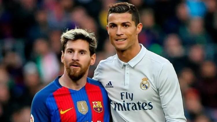 Messi Ronaldo come face