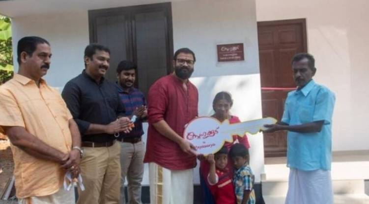Jayasurya's snehakood ; keys to the second house were handed over