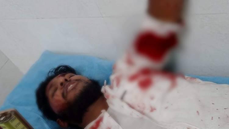 yuvamorcha district president attacked