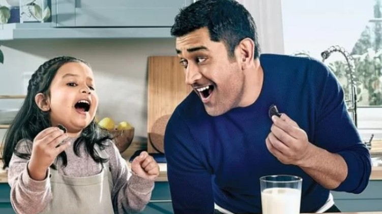 Ziva Dhoni maiden advertisement