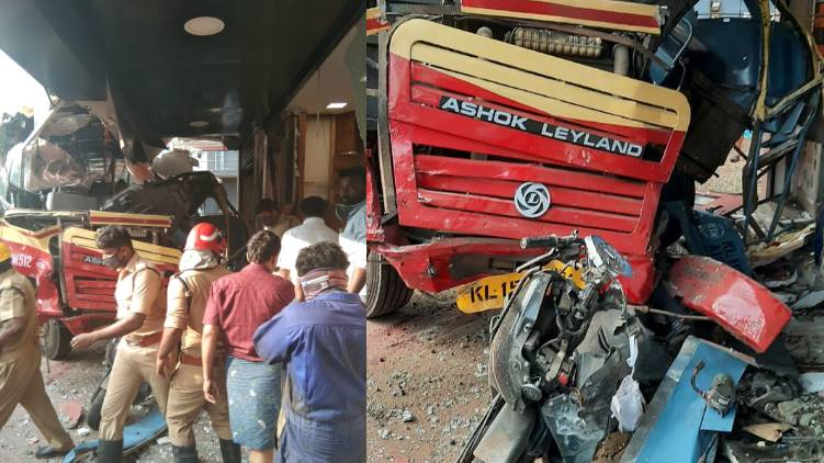 ksrtc accident perunthuruthy