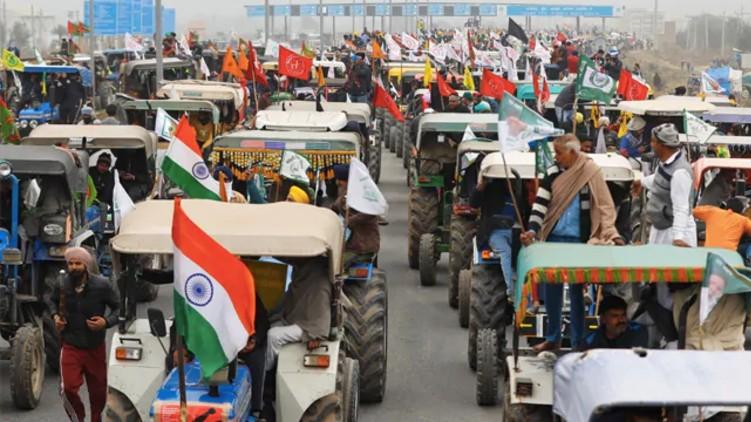 Farmers tractor parade Police