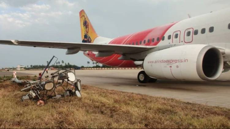 Air India Express Plane Hits Electric Pole