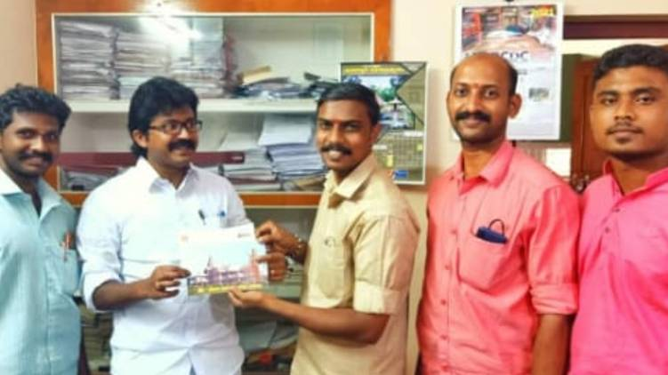 Eldose P Kunnapillil pays for arm temple fund