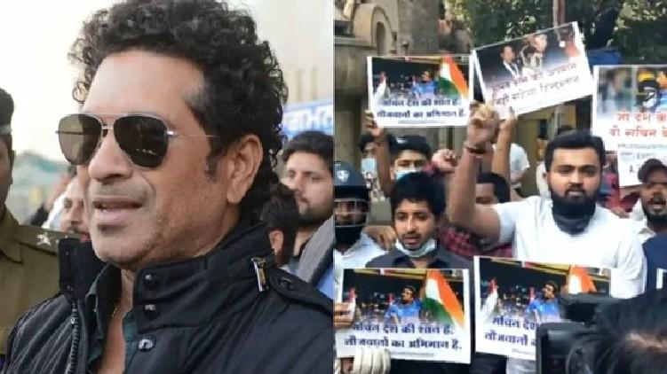 farmers protest Fans Sachin