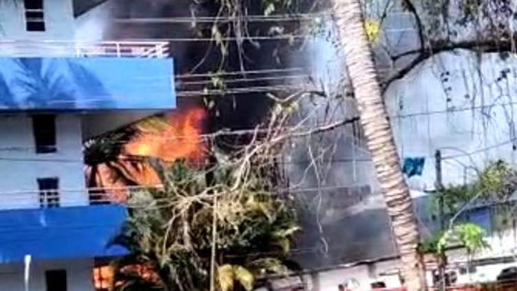 aroor major fire accident