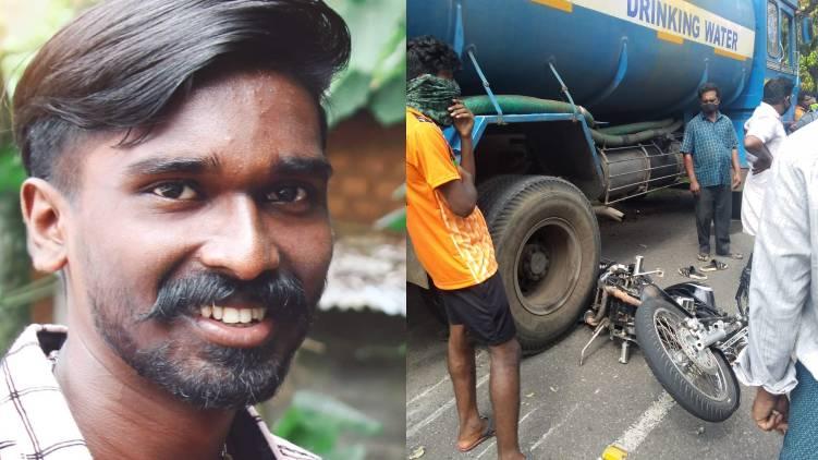 aruvikkara accident one dead