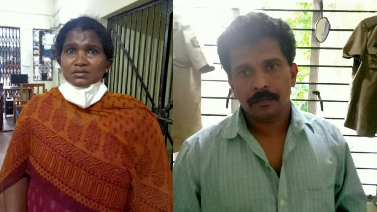 kollam mother killed by son and daughter in law