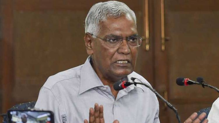 modi with corporates not with people says d raja