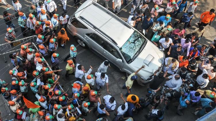 Protest BJP Candidate Kolkata