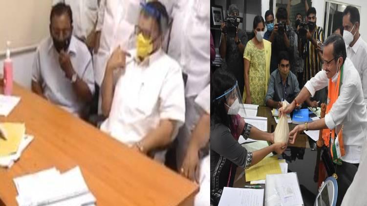 mt ramesh k muraleedharan submits nomination