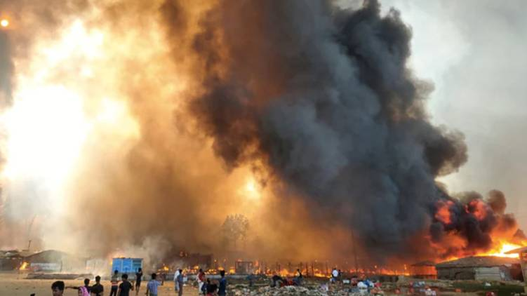 rohingya camp fire 15 dead says UN