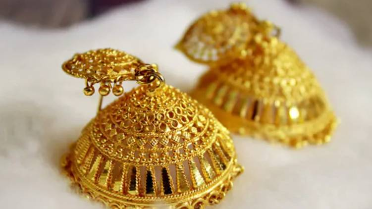 sharp fall in gold price