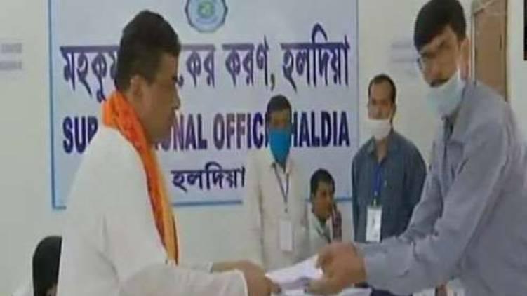 suvendhu adhikari files nomination