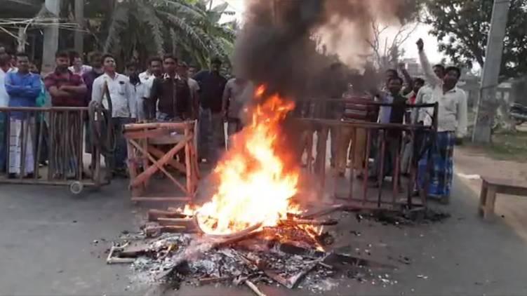 tmc leader set part office on fire