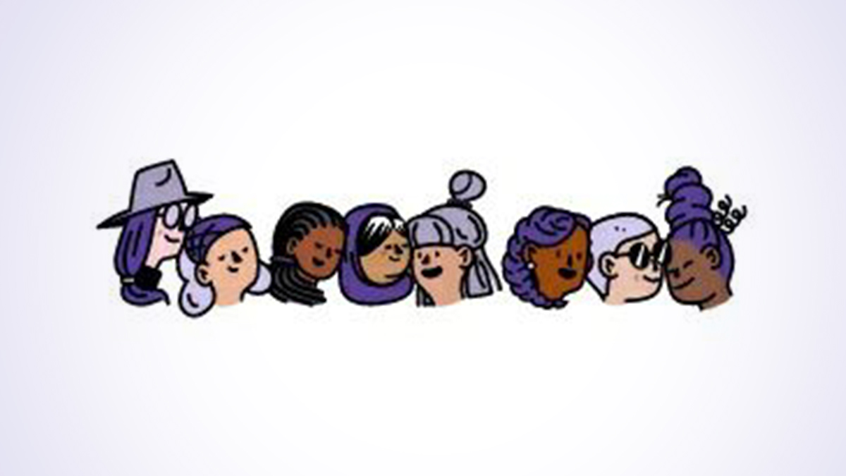 Facebook doodle on women's day