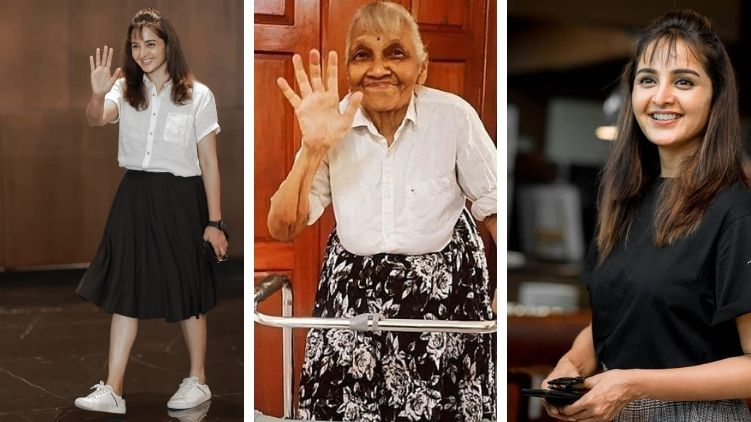 Manju Warrier shares a photo of a grandmother imitating her style