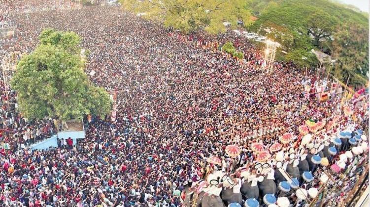 Devaswom protests Thrissur Pooram