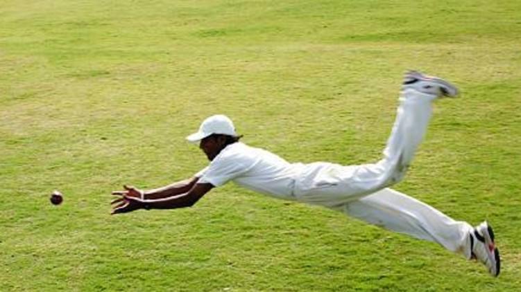 batsman critically injures fielder