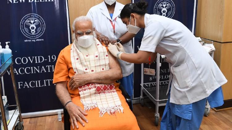 Narendra Modi Second Vaccine