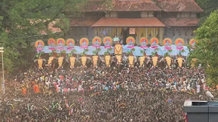 Thrissur Pooram without crowd