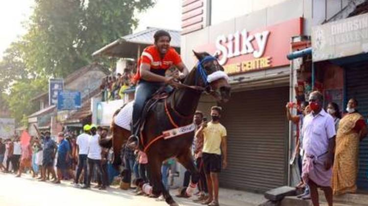 more arrest in thathamangalam horse riding