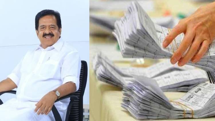 ramesh chennithala writes to ec seeking details of postal ballot