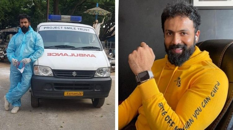 Actor Arjun Gowda turns ambulance driver to help Covid patiants