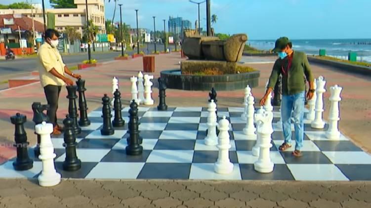 chess board calicut beach
